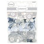 Silver-25th Anniversary Value Pack Confetti Mix - 12 PKG/3