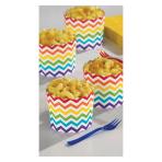 Rainbow Buffet Large Scalloped Cups - 9 PKG/24