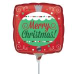 Merry Christmas Ornament Mini Balloons A15 - 5 PC