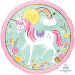 Magical Unicorn Holographic Standard Foil Balloons S40 - 5 PC