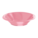New Pink Plastic Bowls 355ml - 10 PKG/10