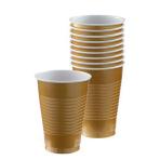 Gold Plastic Cups 355ml - 20 PKG/50