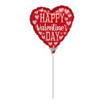 Happy Valentine's Day Pink & Silver Mini Foil Balloons A15 - 5 PC