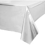 Metallic Silver Tablecovers 1.8m x 1.2m - 6 PC