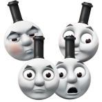 Thomas & Friends Card Face Masks - 6 PKG/4