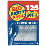 Clear Plastic Economy Spoon Boxed  - 12 PKG/125