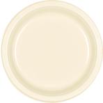 Vanilla Creme Plastic Plates 22.8cm - 10 PKG/20