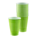 Kiwi Green Plastic Cups 355ml- 10 PKG/20