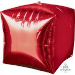 "Cubez Red Unpackaged Foil Balloons - 15""/38cm G20 - 3 PC"