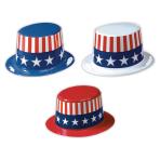 USA Plastic Top Assorted Hats - 24 PKG