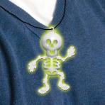 Glow in the Dark Skeleton Necklace 8cm - 24 PKG