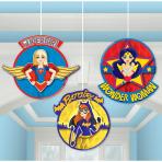 DC Super Hero Girls Honeycomb Decorations - 6 PKG/3