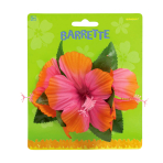 Hawaiian Barrette Warm Hibiscus - 12 PC