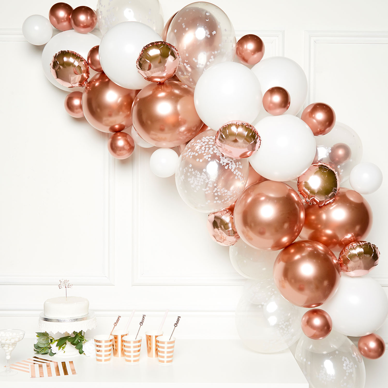 Rose Gold Diy Garland Balloon Kits 4 Pkg 66 Amscan International