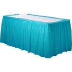 Caribbean Blue Plastic Table Skirts 4.26m x 73cm- 6 PC