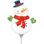 Whimsical Snowman Mini Shape Foil Balloons A30 - 5 PC