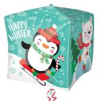"""Penguin & Bear Cubez Foil Balloons 15""""/38cm w x 15""""/38cm h - G20 5 PC"""