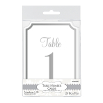 Silver Table Number Cards - 6 PKG/20