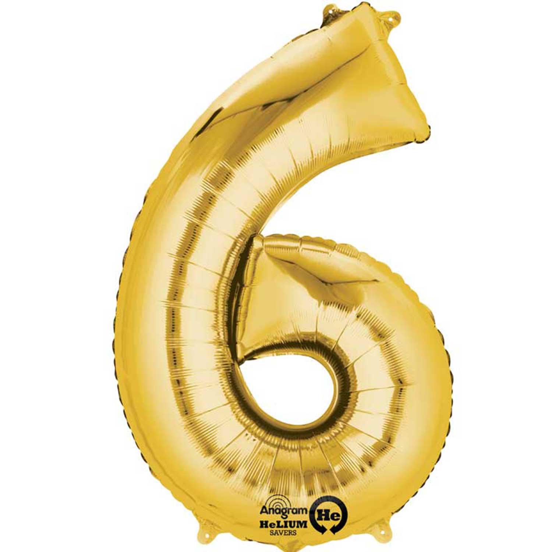 Number 0 40cm Rose Gold Number Air-Filled Foil Balloon