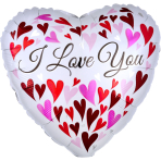 Love You Happy Hearts Standard Foil Balloons S40 - 5 PC