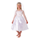 Girls Beautiful Bride Costume - Ages 6-8 years - 1 PC