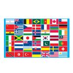 Multi Nations Flag - 1.5m x 91cm - 5ft x 3ft  - 6 PKG