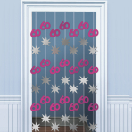 60th Birthday Door Curtains 2m - 6 PKG