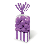 Purple Candy Buffet Striped Party Bags - 24 PKG/10