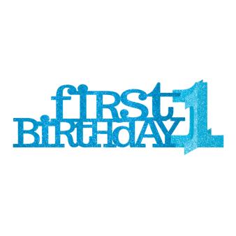1st Birthday Blue Glitter Centrepieces 35.5cm - 12 PC