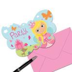 Woodland Princess Postcard Invitations - 6 PKG/8