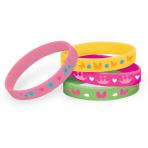 Woodland Princess Rubber Bracelets - 6 PKG/4