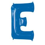 """Letter E Blue SuperShape Foil Balloons 34""""/""""86cm P50 - 5 PC"""