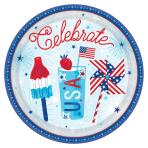 Celebrate USA Paper Plates 27cm - 12 PKG/18