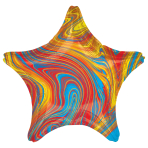 Marblez Colourful Star Standard HX Foil Balloons S15 - 5 PC