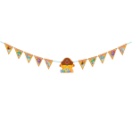 Hey Duggee Pennant Banners 3m x 13cm - 6 PC