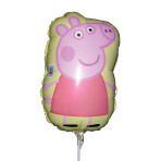 Peppa Pig Mini Shape Foil Balloons A30 - 5 PC
