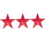 Red Foil Star Cutouts 23cm - 4 PKG