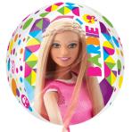 """Barbie Sparkle Orbz Foil Balloons 15""""/38cm w x 16""""/40cm h - G40 5 PC"""