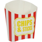 Chip n Sticks Scoop Red & White - 100 PKG