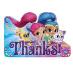 Shimmer & Shine Thank You Cards - 6 PKG/8