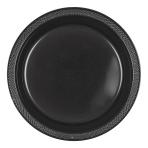 Black Plastic Plates 23cm - 10 PKG/10