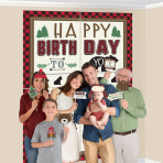 Little Lumberjack Scene Setters with Photo Props - 6 PKG/16