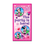 Minnie Mouse Party Here Door Sign 1.65m x 85cm - 6 PKG