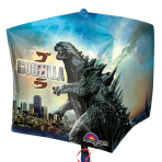 """Godzilla Cubez Foil Balloons 15""""/38cm - G40 5 PC"""