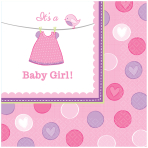 With Love - Girl Luncheon Napkins 33cm - 12 PKG/16