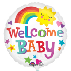 Welcome Baby Standard Foil Balloons S40 - 5 PC