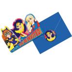DC Super Hero Girls Invitations & Envelopes - 6 PKG/8