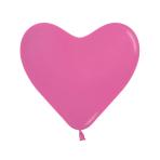 """Fashion Colour Heart Solid Fuchsia 012 Latex Balloons 16""""/40cm - 50 PC"""