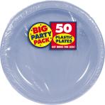 Pastel Blue Plastic Plates 28cm - 6 PKG/50