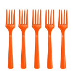 Orange Peel Heavy Weight Plastic Forks - 12 PKG/48